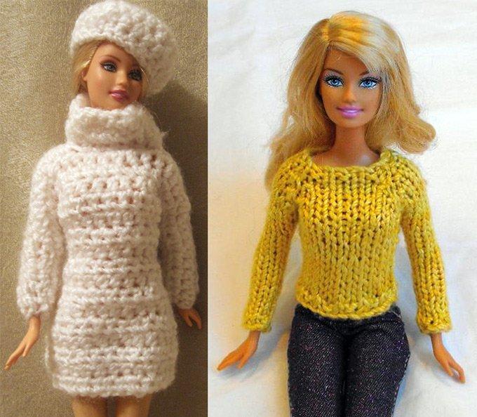 свитеры для Барби
