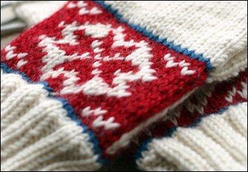 Модные вязаные перчатки на зиму