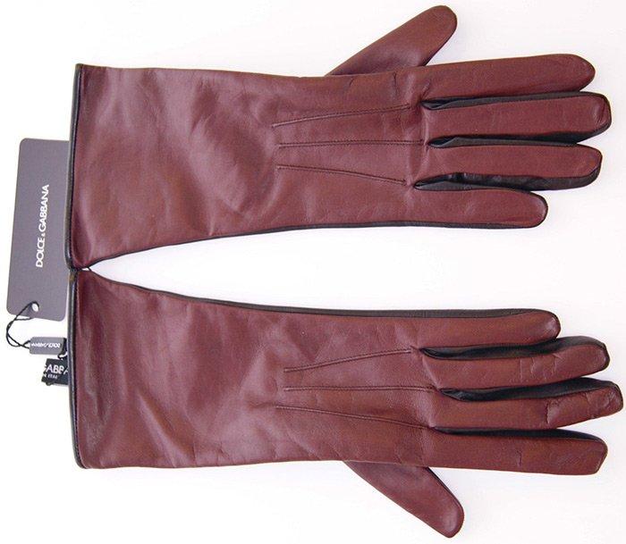 Кожаные перчатки dolce & gabbana