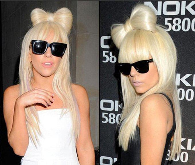 Бант из волос Леди Гага