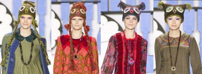 Anna Sui вязаные шапки осень-зима 2012-2013
