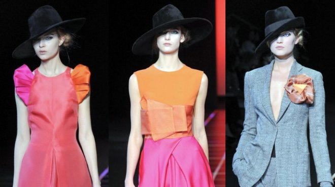 шляпы от Giorgio Armani осень-зима 2012-2013