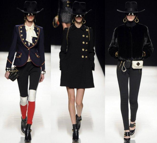 Moschino чёрная ковбойская шляпа осень-зима 2012-2013
