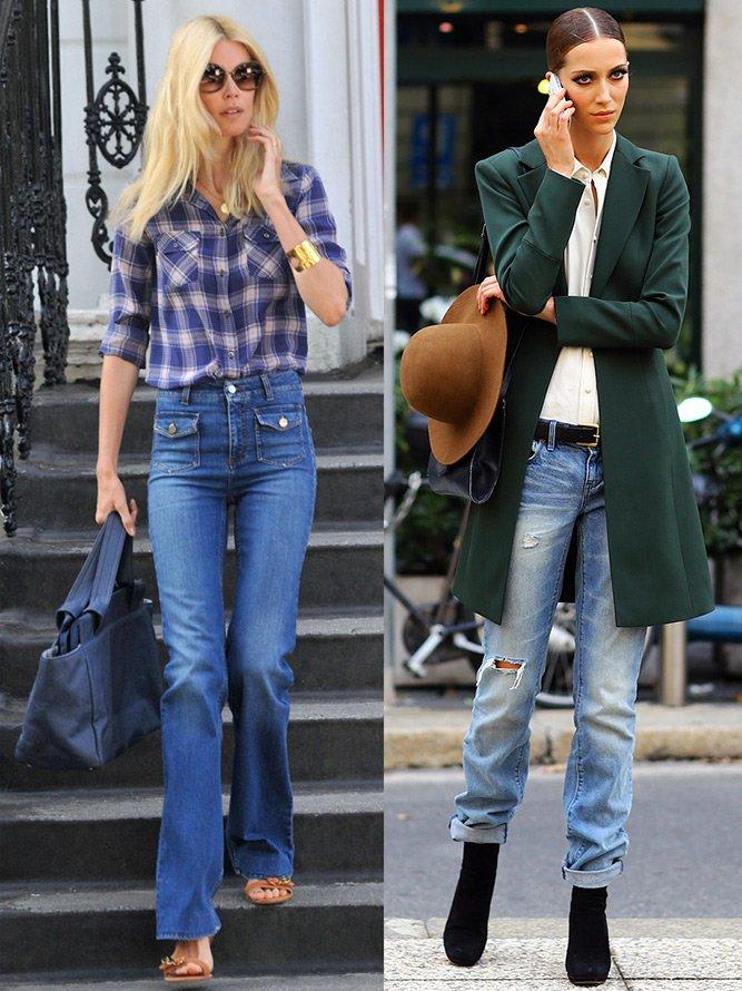 Джинсовый стиль, девушки в джинсах