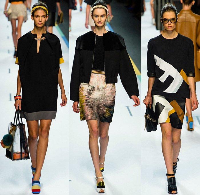 модная женская одежда Fendi весна-лето 2013