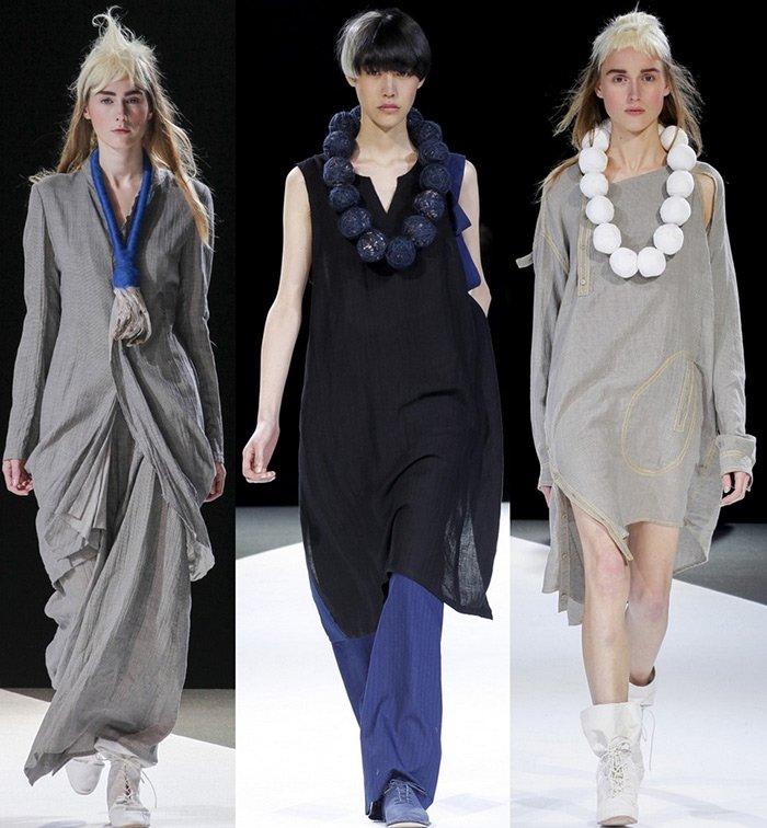 модная женская одежда Yohji Yamamoto весна-лето 2013