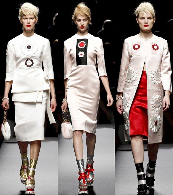 модная женская одежда Prada весна-лето 2013
