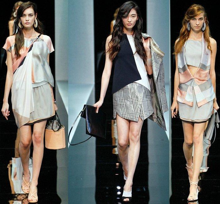 Emporio Armani одежда из тканей пастельных оттенков фото