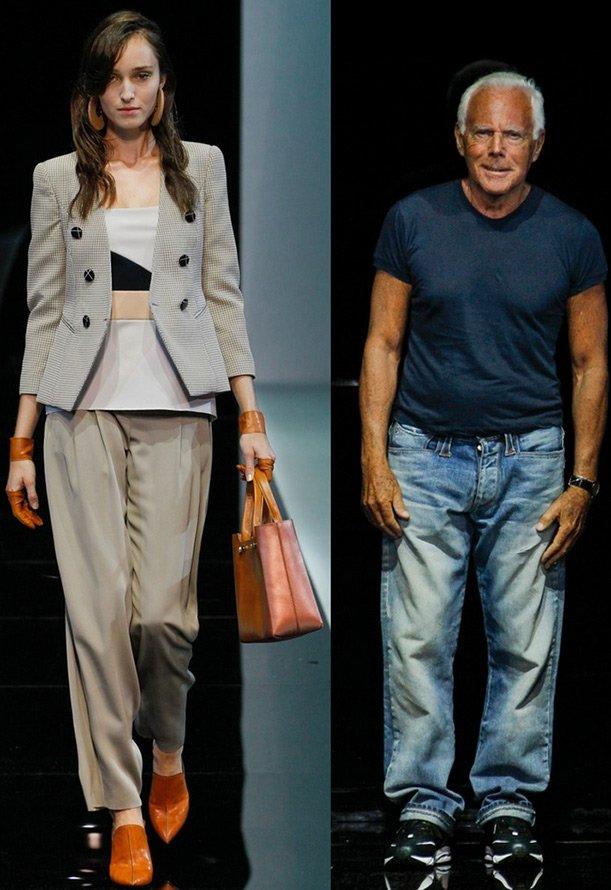 Женская одежда из коллекции Emporio Armani