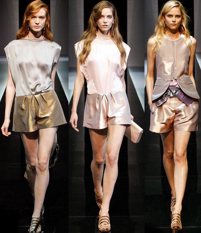 Женская одежда из коллекции Emporio Armani весна-лето 2013