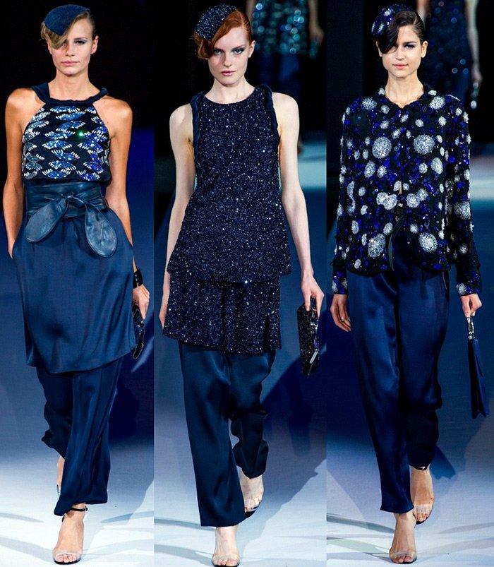 модная женская одежда Giorgio Armani весна-лето 2013