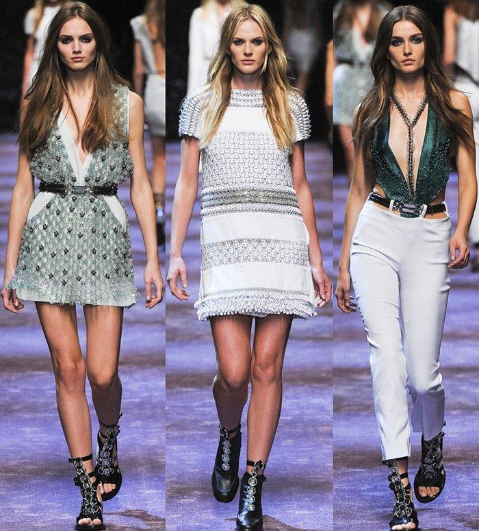 модная женская одежда Paco Rabanne весна-лето 2013