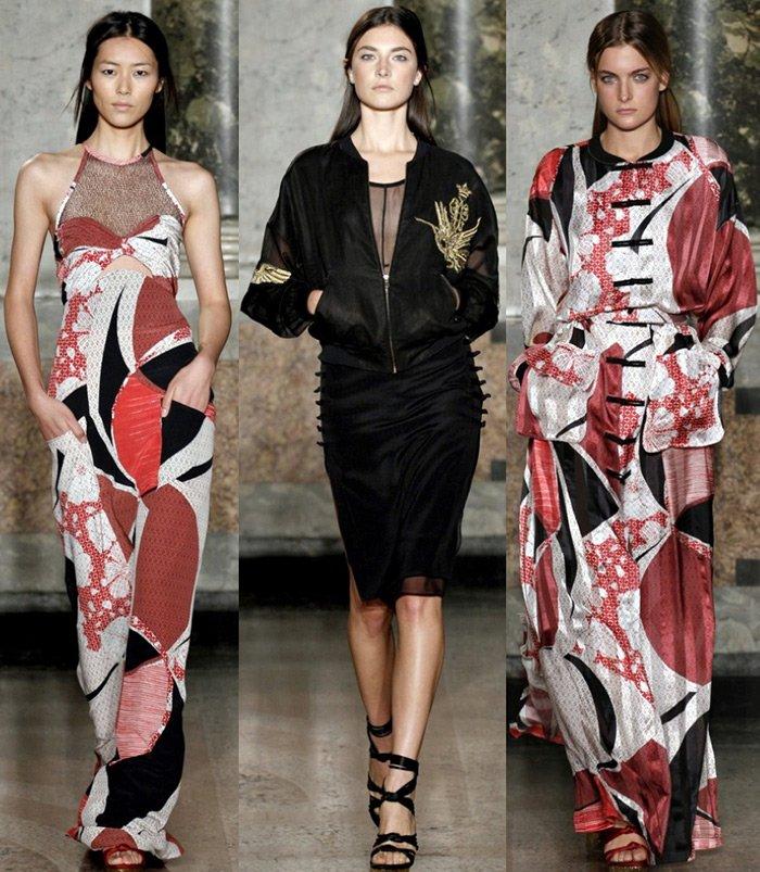 Показ Emilio Pucci фото, миланская неделя моды 2013