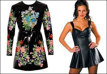 Кожаное платье - избранные фасоны