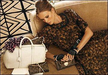 Анна Вялицына и Louis Vuitton