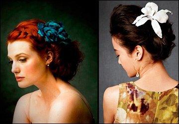 Цветы из ткани, фото в качестве образцов