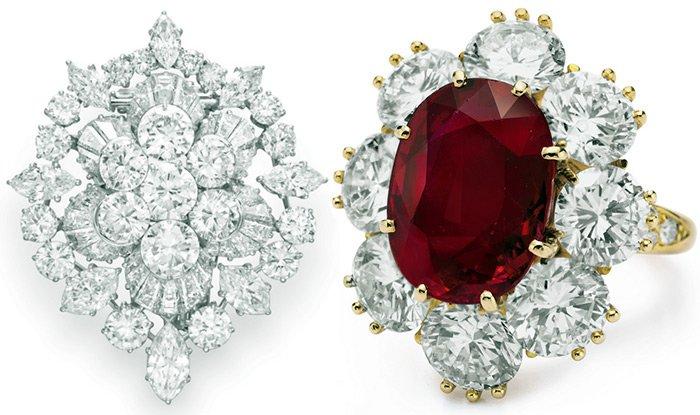 ювелирные изделия с крупными бриллиантами