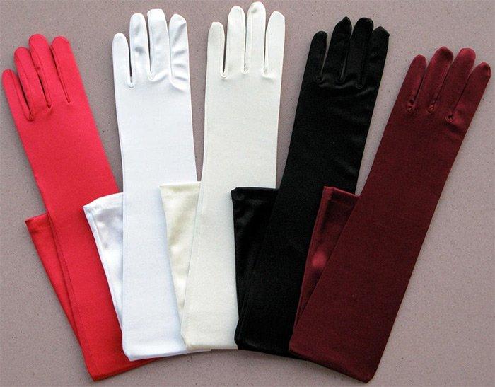 Длинные женские перчатки фото