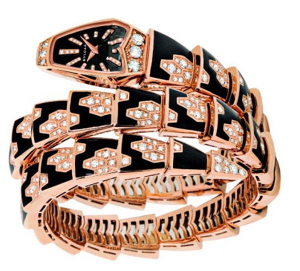 Ювелирные украшения, часы в виде змеи, фото