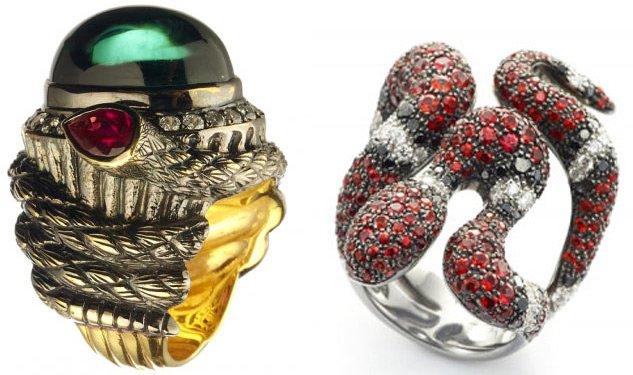 Ювелирные украшения, змея кольца, фото