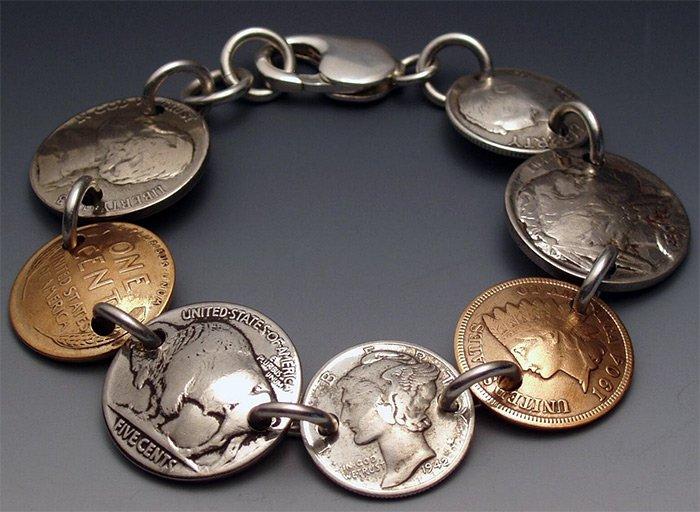 Украшения из монет фото кэлвин кулидж