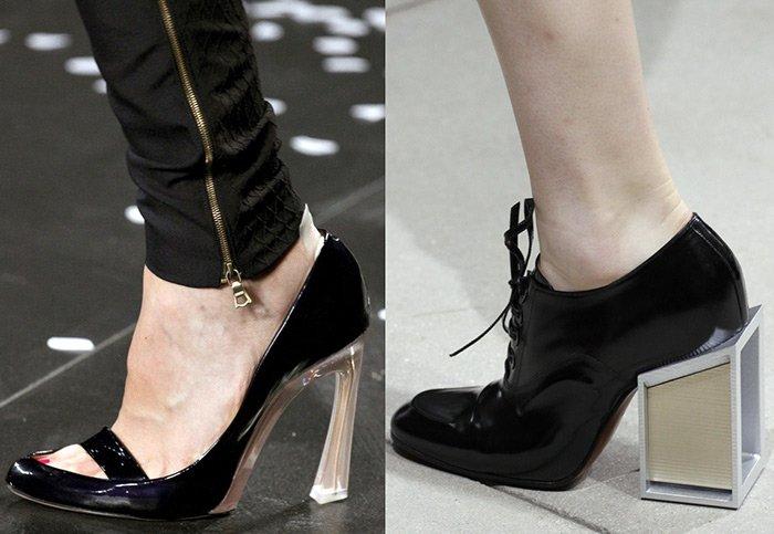 Модная женская обувь, модели каблука