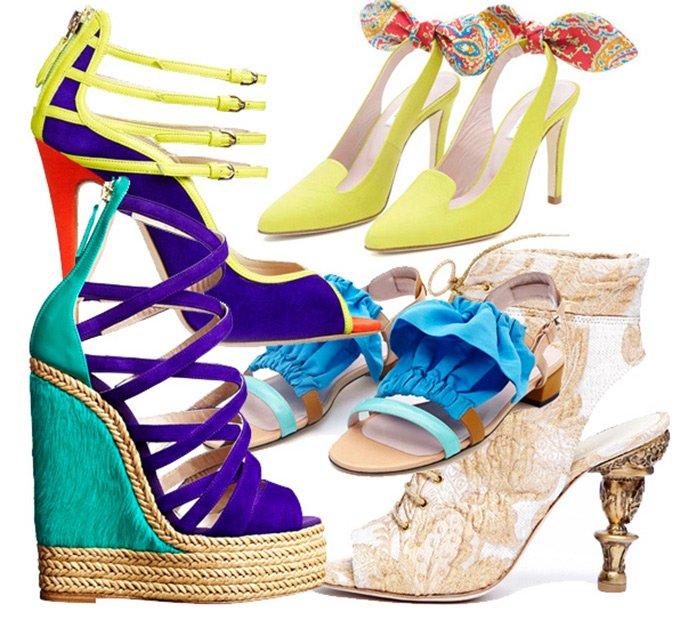 Модная обувь весна-лето 2013 – декор