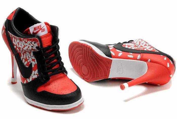 кроссовки на высоком каблуке фото