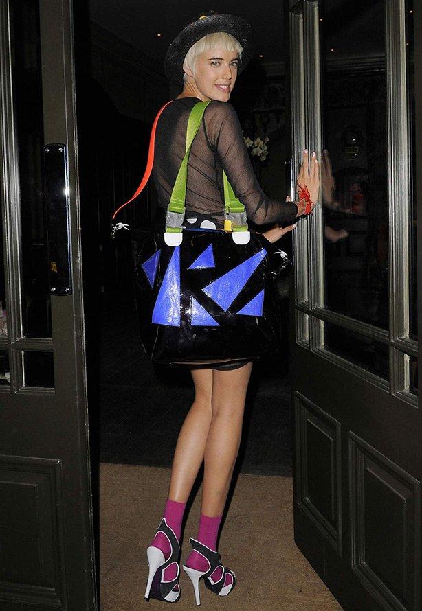 Агнесс Дейн фото с сумкой