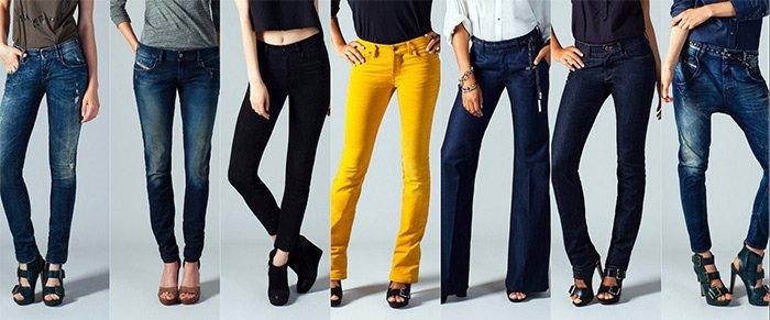 Модные женские джинсы Diesel весна-лето 2013