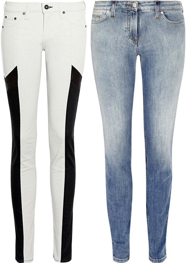 женские джинсы Rag & Bone и Roberto Cavalli 2013 фото