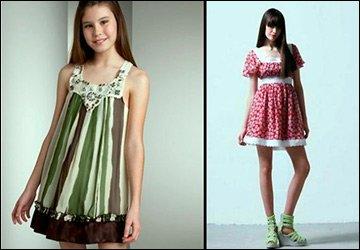 Девушки в платьях Беби-Долл