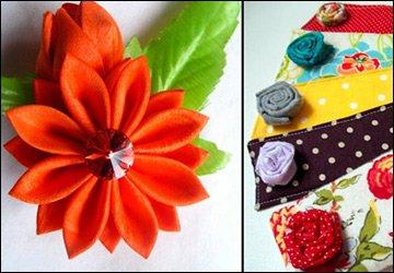 Какие выбрать ткани для изготовления цветов