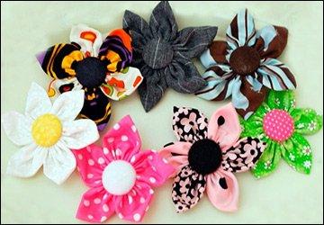 Фантазийные цветы из ткани