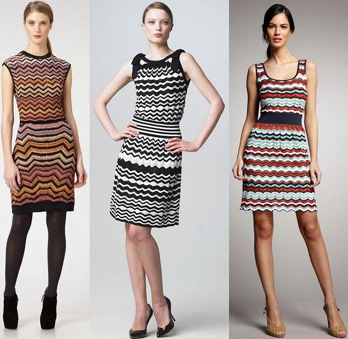 Платья из тканей миссони