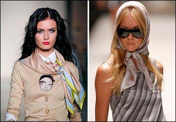 Как носить шарфы из тонкой ткани
