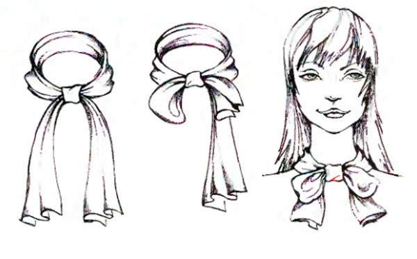 Как красиво носить шарф вариант бант