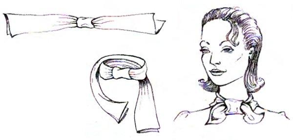 Как красиво носить шарф вариант бабочка