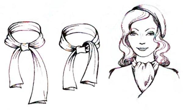 Как красиво носить шарф вариант богема