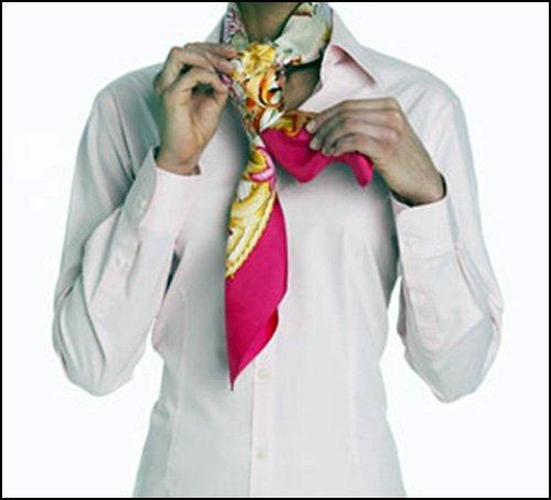 как завязать шарф - Скользящий узел фото