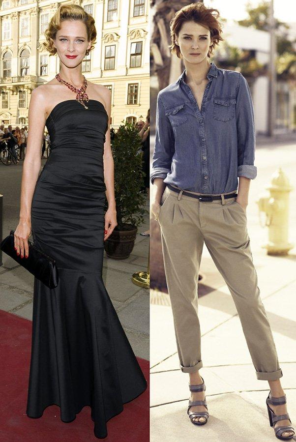 Стиль одежды модели Кармен Касс