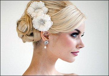Свадебные цветы из ткани