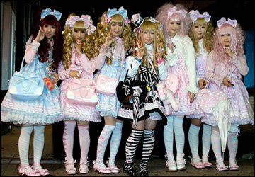Японские девушки в стиле Лолиты