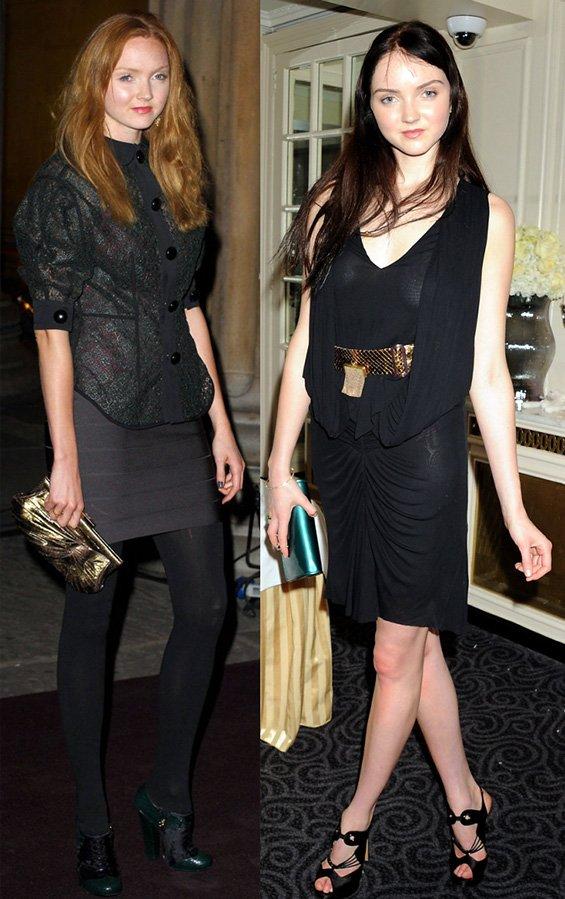 Стиль одежды модели Лили Коул, фото