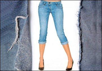 Что делать со старыми джинсами? Капри