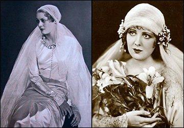 Винтажные свадебные платья в  фотографиях