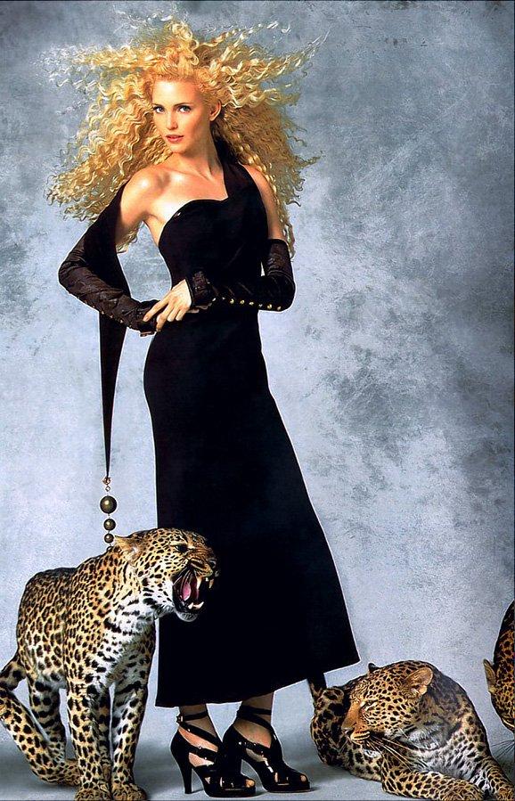 Надя Ауэрман и леопарды