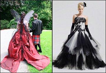Готические свадебные платья