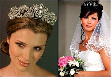Свадебная диадема для невесты