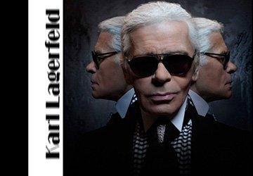 Карл Лагерфельд фото без очков